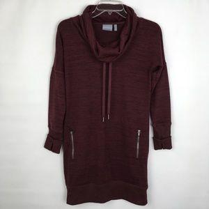 Athleta Cowl Neck Long Sweatshirt Size XXS